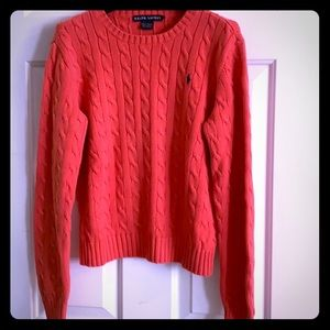 Ralph Lauren Orange Cotton Sweater